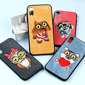 Case For Apple iPhone X / iPhone 6 Shockproof / Dustproof / Water Resistant Back Cover Dog / Animal / Owl Soft TPU for iPhone X / iPhone 8 Plus / iPhone 8