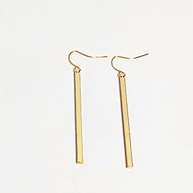 Women's Classic Drop Earrings - Simple, Basic, European Gold / Silver For Causal Daily