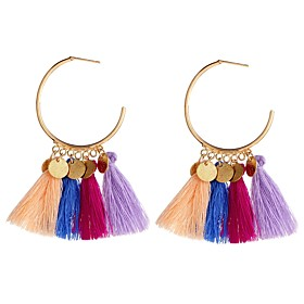 Women's Vintage Style Tassel Drop Earrings - Aristocrat Lolita Rainbow / Light Red / Green For Party / Evening Ceremony