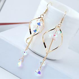 Women's Long Drop Earrings Rhinestone Earrings Drop Ladies European Fashion Jewelry Gold / Silver For Causal Daily 1 Pair