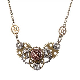 Women's Classic Pendant Necklace - Gear Steampunk Cool Ancient Bronze 70 cm Necklace Jewelry 1pc For Party / Evening, Daily