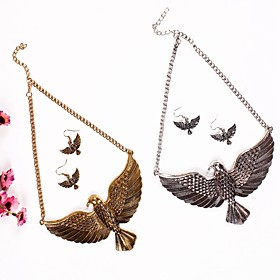 Women's 3D Jewelry Set - Eagle Hyperbole Include Drop Earrings Necklace Gold / Silver For Daily Festival