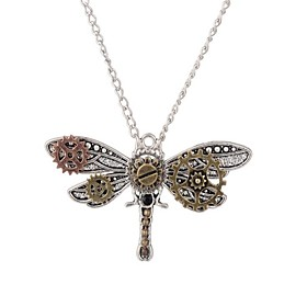 Women's Coffee Classic Pendant Necklace - Dragonfly Steampunk Cool Ancient Bronze 46 cm Necklace Jewelry 1pc For Party / Evening, Daily