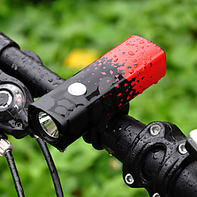 Front Bike Light Bike Light Cycling Waterproof, Portable 18650 800 lm 18650 White Camping / Hiking / Caving / Cycling / Bike