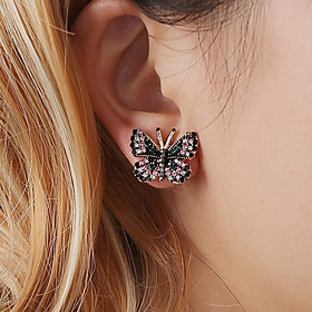 Women's Retro Stud Earrings - Butterfly Unique Design, Vintage, Trendy Golden For Party Gift Daily