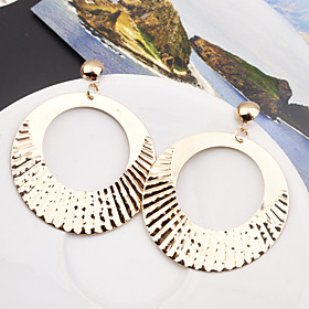 Women's Hollow Drop Earrings - Simple, European, Fashion Gold / Silver For Party Causal
