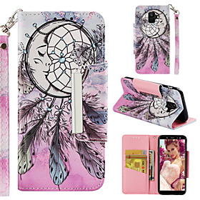 Case For Samsung Galaxy A8 Plus 2018 / A8 2018 Wallet / Card Holder / with Stand Full Body Cases Dream Catcher Hard PU Leather for A6 (2018) / A6 (2018) / A7(2
