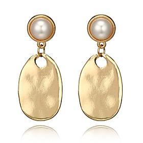 Women's Vintage Style Drop Earrings Earrings - Imitation Pearl Drop, Pear Punk, Fashion Golden For Party / Evening Gift