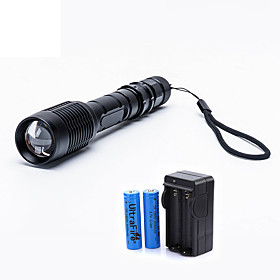 UltraFire LED Flashlights / Torch LED LED 1 Emitters 2000 lm 5 Mode with Batteries and Charger Zoomable Adjustable Focus Camping / Hiking / Caving Everyday Use