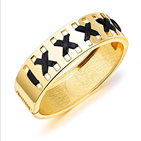 Women's Gold Classic Bracelet Bangles - 18K Gold Plated Fashion Bracelet Gold / Silver For Daily Office  Career