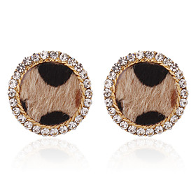 Women's Vintage Style Stud Earrings - Light Brown / Dark Brown For Party / Evening Gift