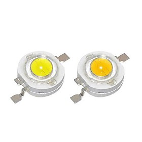 SENCART 10pcs High Power LED DIY / Bulb Accessory Aluminum LED Chip Clear for DIY LED Flood Light Spotlight 1 W
