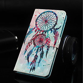 Case For Samsung Galaxy J6 Wallet / Card Holder / with Stand Full Body Cases Dream Catcher Hard PU Leather for J8 (2018) / J7 (2018) / J6 Plus