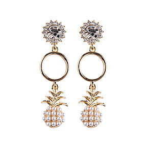 Women's AAA Cubic Zirconia Classic Drop Earrings - Imitation Pearl Pineapple Trendy, Sweet, Fashion Gold / Silver For Going out Work