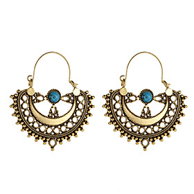Women's Retro Drop Earrings - Totem Series Vintage, Ethnic, Boho Gold / Silver For Party Daily
