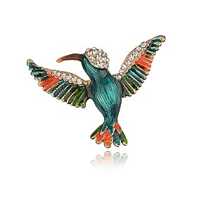 Women's Classic Brooches Bird Ladies Unique Design Brooch Jewelry Gold For Christmas Evening Party