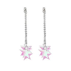 Women's Fancy Drop Earrings Front Back Earrings / Ear Jacket - Star Korean, Sweet, Fashion Silver For Causal Daily