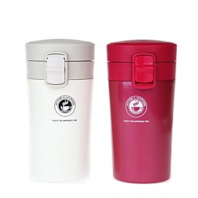 Drinkware Vacuum Cup Steel  Plastic / Stainless Steel / PPABS Portable / Heat Retaining Office / Career / Business
