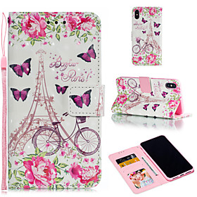 Case For Apple iPhone XR / iPhone XS Max Wallet / Card Holder / with Stand Full Body Cases Butterfly / Flower Hard PU Leather for iPhone XS / iPhone XR / iPhon