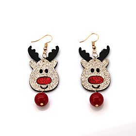 Women's Vintage Style Drop Earrings Earrings - Elk, Deer, Ball Vintage, Cartoon, Fashion Red For Christmas Gift