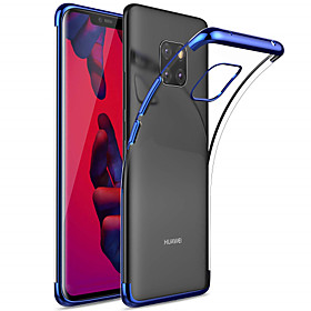 Case For Huawei Huawei Mate 20 Pro / Huawei Mate 20 Plating / Transparent Back Cover Solid Colored Soft TPU for Mate 10 / Mate 10 pro / Mate 10 lite / Mate 9 P