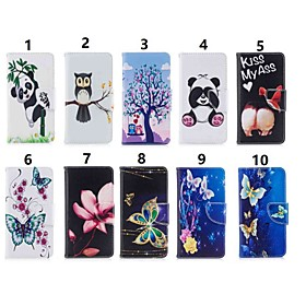Case For Huawei P20 lite / Huawei P Smart Plus Wallet / Card Holder / with Stand Full Body Cases Butterfly / Panda Hard PU Leather for Huawei P20 / Huawei P20