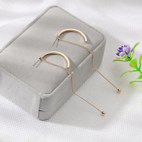 Women's Classic Hoop Earrings - Simple, Korean, Fashion Gold / Silver For Daily Work