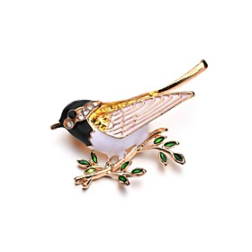 Women's Classic Brooches Bird Ladies Unique Design Brooch Jewelry Gold For Ceremony Evening Party