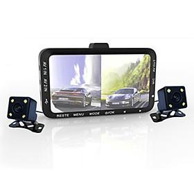 720p Night Vision / Dual Lens Car DVR 90 Degree Wide Angle CMOS Sensor ≤3 inch LED Dash Cam with G-Sensor / Loop recording / Delay Shutdown 4 infrared LEDs Car