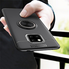 Case For Huawei Huawei Mate 20 Pro / Huawei Mate 20 Ring Holder Back Cover Solid Colored Soft TPU for Mate 10 / Mate 10 pro / Mate 10 lite / Mate 9 Pro