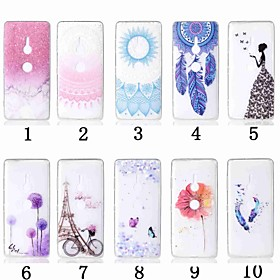 Case For Sony Xperia XZ2 Compact / Xperia L2 Transparent / Pattern Back Cover Flower Soft TPU for Sony Xperia XZ2 / Sony Xperia XZ2 Compact / Sony Xperia XZ3