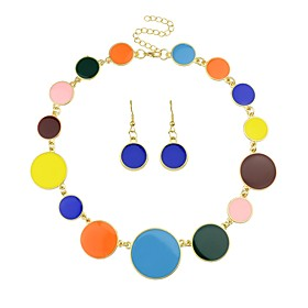 Women's Tropical Jewelry Set - Simple, Fashion Include Drop Earrings Pendant Necklace Black / Rainbow / Blue For Ceremony Date