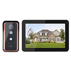 MOUNTAINONE 9 inch Wired Wifi Video Door Phone Doorbell Intercom Entry System with 1000TVL Wired IR-CUT Camera Night VisionSupport Remote APP