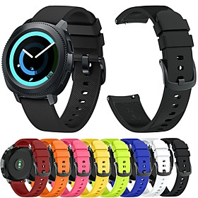 Watch Band for Gear Sport / Gear S2 / Gear S2 Classic Samsung Galaxy Sport Band / Classic Buckle Silicone Wrist Strap