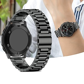 Watch Band for Gear Sport / Gear S2 / Gear S2 Classic Samsung Galaxy Sport Band Stainless Steel Wrist Strap