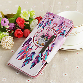 Case For Samsung Galaxy A6 (2018) / A6 (2018) Wallet / Card Holder / with Stand Full Body Cases Owl / Dream Catcher Hard PU Leather for A6 (2018) / A6 (2018)