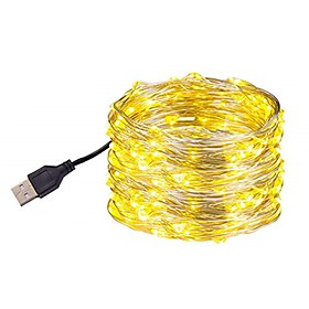 10m Flexible LED Light Strips 100 LEDs SMD 0603 Warm White / White / Multi Color Waterproof / USB / Party USB Powered 1pc
