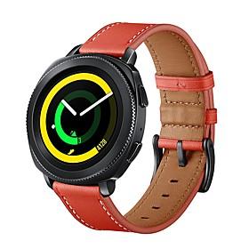 Watch Band for Gear Sport / Gear S2 / Gear S2 Classic Samsung Galaxy Sport Band / Classic Buckle Genuine Leather Wrist Strap
