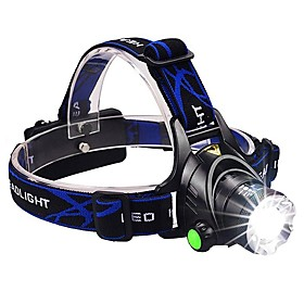 Headlamps Headlight LED LED Emitters 1600 lm 3 Mode with Batteries and Charger Zoomable Waterproof Adjustable Focus Camping / Hiking / Caving Everyday Use Cycl