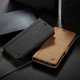 WHATIF Case For Apple iPhone XS Max Wallet / Card Holder / with Stand Full Body Cases Solid Colored Hard PU Leather for iPhone XS Max