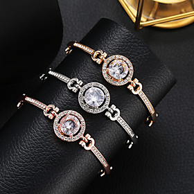 Women's Crystal Tennis Chain Crystal Bracelet Rhinestone Sun Precious Simple Fashion Elegant Bracelet Jewelry Gold / Silver / Rose Gold For Going out Work
