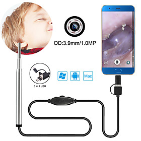 3.9 mm lens Hd Usb Endoscope 156 cm Working length 3 in 1 Home And Office with USB Port
