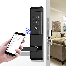 PINEWORLD Q201 Stainless Steel / Zinc Alloy lock / Password lock / Fingerprint Lock Smart Home Security iOS / Android System Password unlocking / Mechanical ke