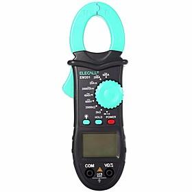 ELECALL EM201 2000 Count Digital Multimeter Clamp Meter AC/DC Voltage AC Current  Resistance Tester