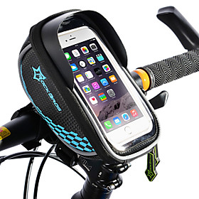 ROCKBROS Cell Phone Bag Bike Frame Bag Touch Screen Waterproof Lightweight Bike Bag TPU EVA Polyster Bicycle Bag Cycle Bag Cycling / iPhone X / iPhone XR Bike