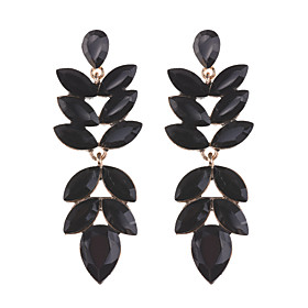Women's Crystal Marquise Cut Drop Earrings Earrings Luxury Classic Elegant Jewelry Black / Red / Champagne For Party Ceremony Festival 1 Pair