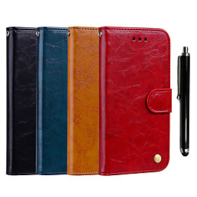 Case For Huawei Huawei P smart / Huawei Mate 20 Pro Wallet / Card Holder / with Stand Full Body Cases Solid Colored Hard PU Leather for Huawei Nova 3i / Huawei