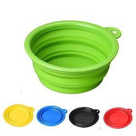1/0.35 L Rodents / Dogs / Cats Bowls  Water Bottles / Feeders / Food Storage Pet Bowls  Feeding Durable / Folding Red / Green / Blue