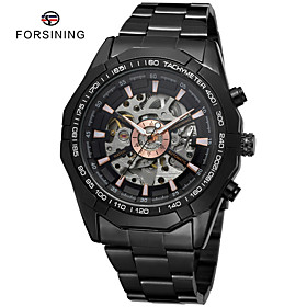 Men's Dress Watch Mechanical Watch Automatic self-winding Black Water Resistant / Waterproof Casual Watch Large Dial Analog Classic Fashion - White Black