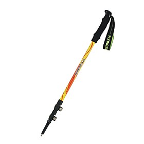 3 Sections Multifunction Walking Poles Trekking Pole Accessories Aluminum Alloy 135cm (53 Inches) Outdoor Adjustable Length Handles Tungsten Carbon Fiber